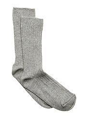 Sock - Rib - All Sizes - LIGHT GREY MELANGE