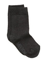 Sock , plain colour - 180/DARK GREY MELANGE