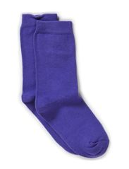 Sock , plain colour - 741/DARK VIOLET (REDDISH)