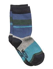 Sock - Block Stripes - ROYAL BLUE
