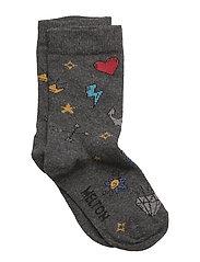 Sock - Tattoo - DARK GREY MELANGE