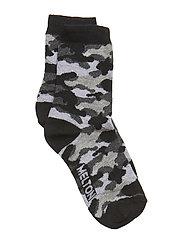 Sock - Camo - BLACK