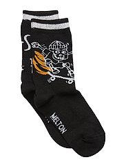 Sock - Skate On Fire - BLACK