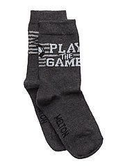 Sock - Play Football - DARK GREY MELANGE