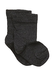 Classic Superwash wool sock - DARK GREY MELANGE