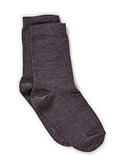 Classic, Basic Wo/Co Sock - 180/DARK GREY MELANGE