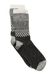 Wool - Sock Girly w/Lurex - DARK GREY MELANGE