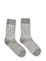 Sock - Wool Lurex Rag - 135/LIGHT GREY MELANGE