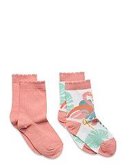 Hailey 2-pack socks - WHITE
