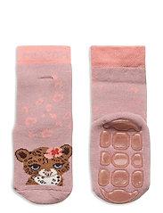 Maddie socks with anti-slip - ROSE