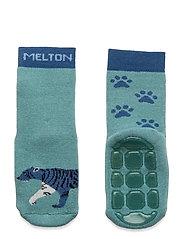 Miles socks with anti-slip - BLUE