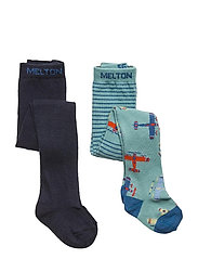 Gavin 2-pack tights - BLUE