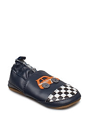 Leather Shoe - Race Car Slippers Inneskor Blå MELTON