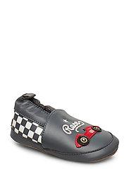 Leather Shoe - Race - DARK CHARCOAL GREY