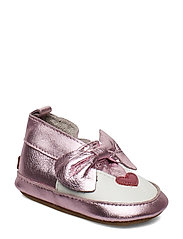 LEATHER Shoe - Baby Mouse - CERISE
