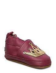 LEATHER Shoe - Crown - ROUGE RED