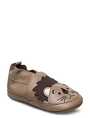 Leather Shoe - Lion - WARM TAUPE