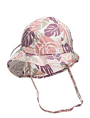 Hat w/neck & bow, Summer Girl - 503 BLUSH ROSE
