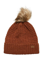 LAMB WOOL Hat w. Structure - LEATHER BROWN