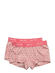 Numbers, 2-pk AOP Girl Shorts - 503 BLUSH ROSE