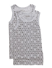 Numbers, 2-pk AOP Boys Top - PEARL GREY MELANGE