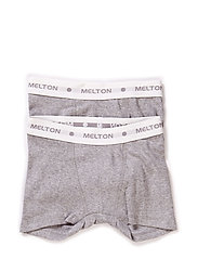Numbers, 2-pk Rib Boys Boxer - 135/LIGHT GREY MELANGE