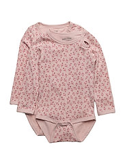 Numbers, 2-pk LS AOP Body - 503 BLUSH ROSE
