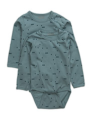 Numbers, 2-pk LS AOP Body - PASTEL BLUE