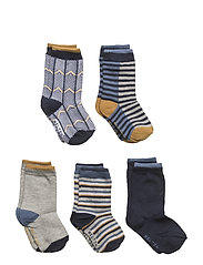 Numbers 5-pack Socks - BOYS - MARINE