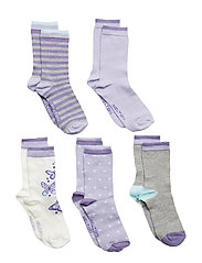 NUMBERS 5-pack Socks - Girls - CLOUD LILAC