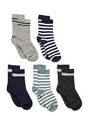 5-Pack Socks - Girls - LIGHT GREY