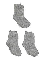 Numbers 3-pack Socks - Single - 135 / LIGHT GREY MELANGE