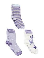 NUMBERS 3-pack Socks - Girls - CLOUD LILAC