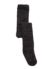 Tights, Zebra w/Lurex - 190/Black