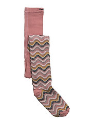 Tights - Wavy Stripes w/Lurex - DUSTY ROSE