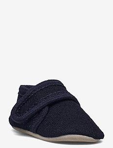 Cotton socks with anti-slip - skarpetki antypoślizgowe - blue