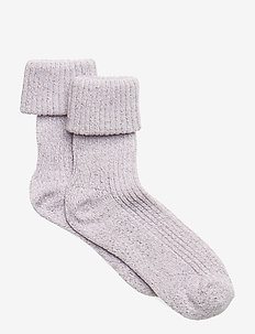 BABYSOCK - Thin Rib w. Lurex - CLOUD LILAC