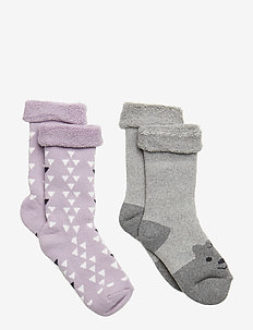 Terry 2-pack Baby Sock - Girls - CLOUD LILAC