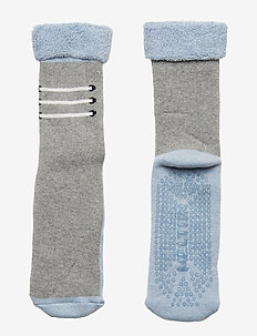 Baby Terry Sock w/ABS - LIGHT GREY MELANGE