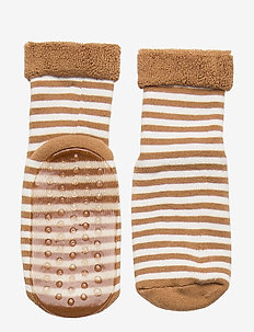 ABS Terry Sock - Stripe - non-slip socks - moka