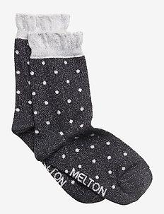 Sock - Dot w/Lurex - MARINE