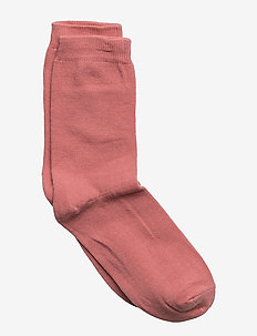 Sock , plain colour - 519/DUSTYROSE