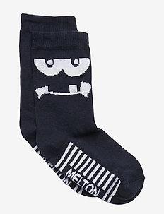 Sock - Monster Face Glow in the Dark - MARINE