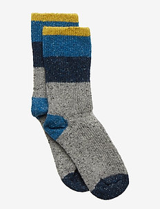 Wool - Sock Blocks w/Silk - LIGHT GREY MELANGE