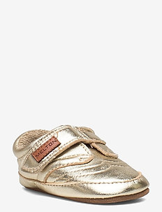 Leather Shoe - Velcro - schuhe - gold