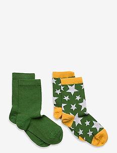Max 2-pack socks - strümpfe - green