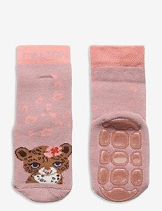 Maddie socks with anti-slip - skarpetki antypoślizgowe - rose