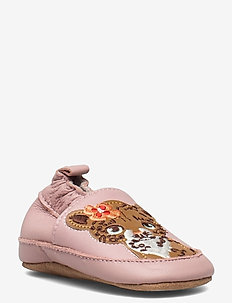 Leather Shoe - Leopard - schuhe - rose