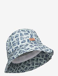 Bucket Hat w/print - kapelusz przeciwsłoneczny - blue