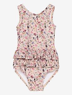 UV Swimsuit Flower - swimsuits - rose